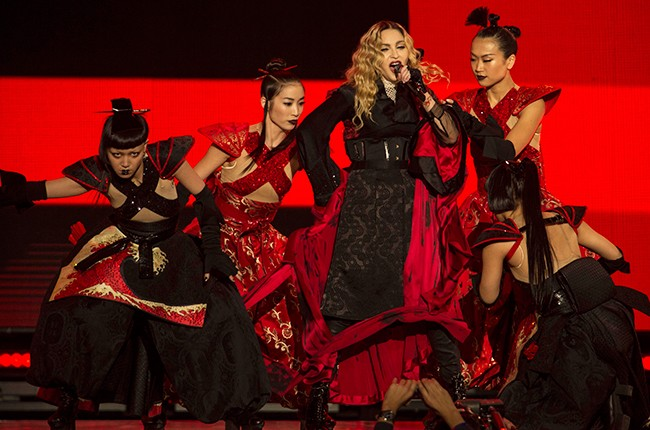 """Madonna performs during her """"Rebel Heart"""" tour in Mexico City Jan. 6, 2016."""
