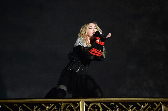 """Madonna performs during her """"Rebel Heart"""" tour"""