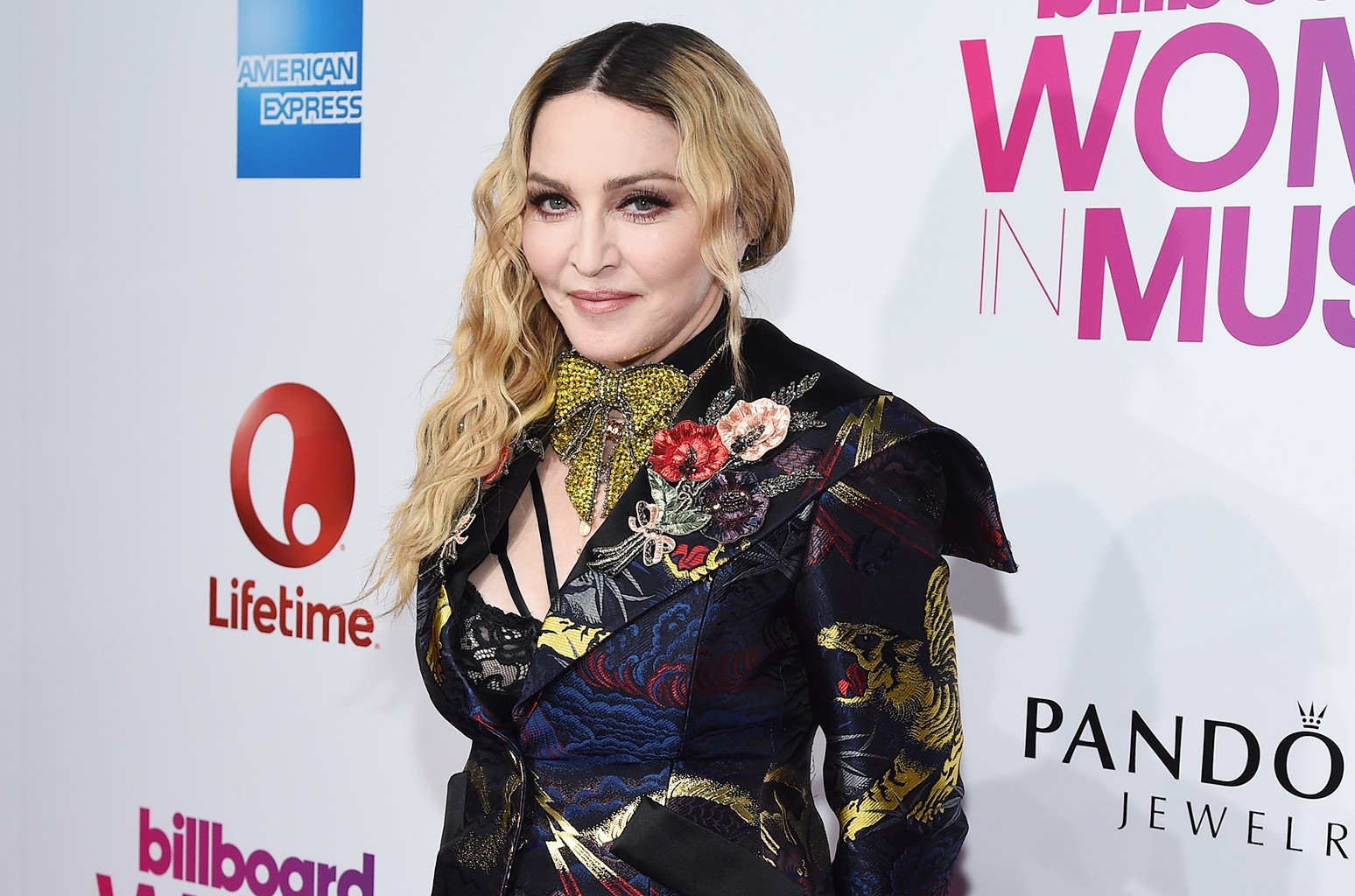 Madonna attends Billboard Women In Music 2016 at Pier 36 on Dec. 9, 2016 in New York City.