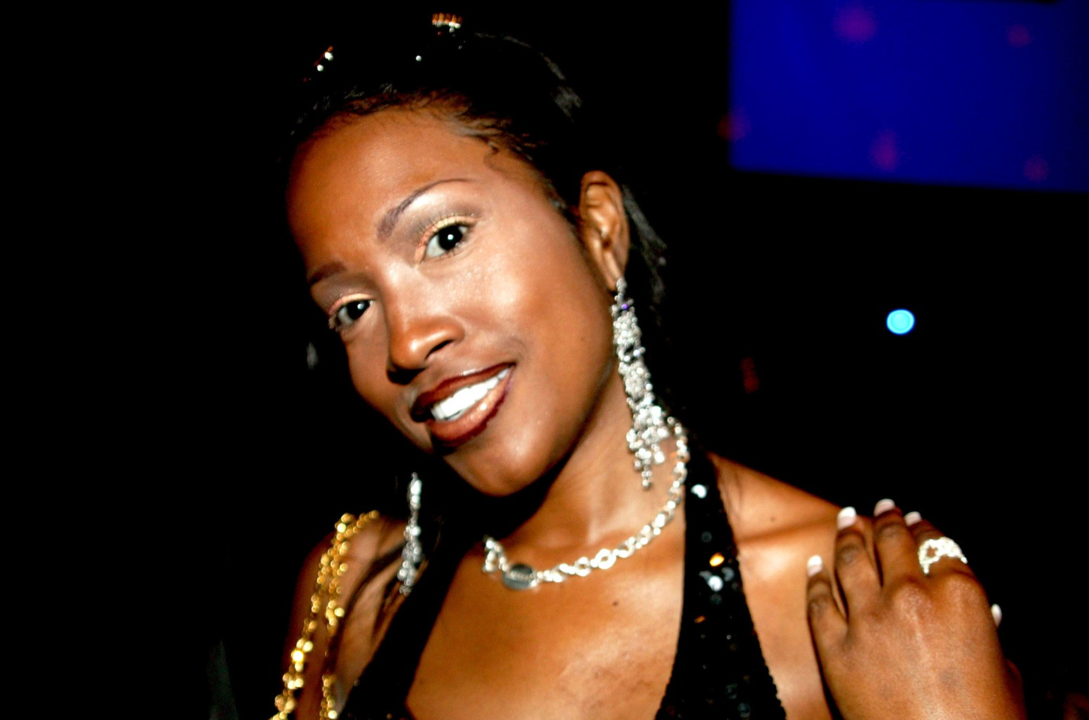 Maia Campbell photographed at Crobar in New York City.