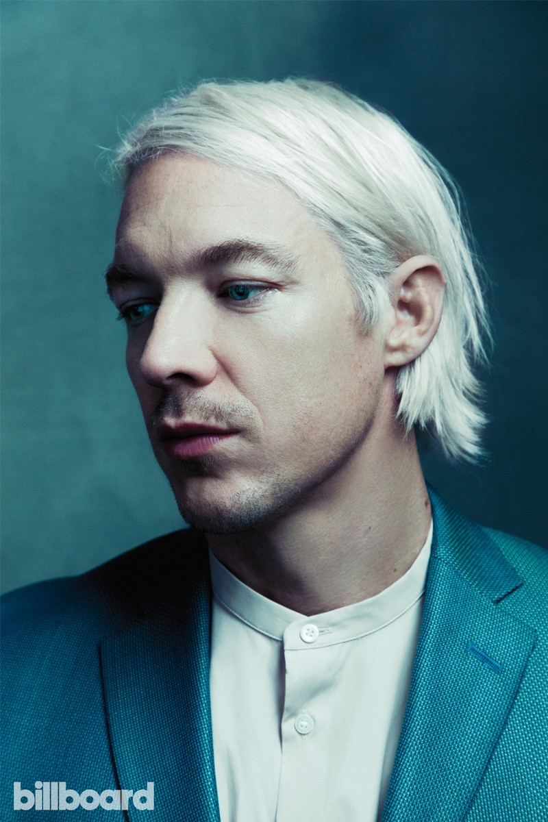 Diplo wears a COS shirt and David Hart suit.