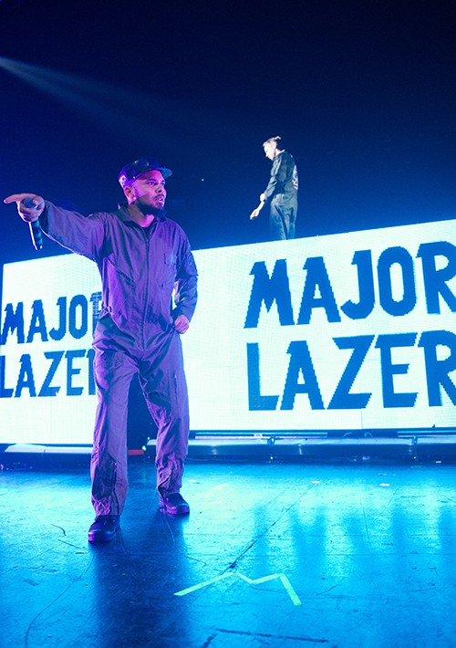 Major Lazer performs at the 02 Academy