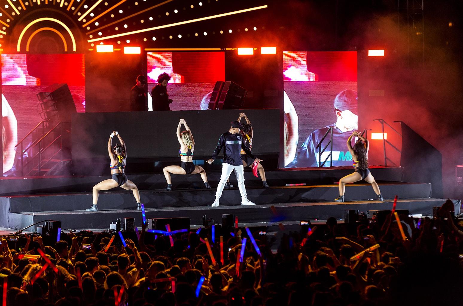 Major Lazer perform at Live Park on Sept. 13, 2016 in Rishon LeZion, Israel.
