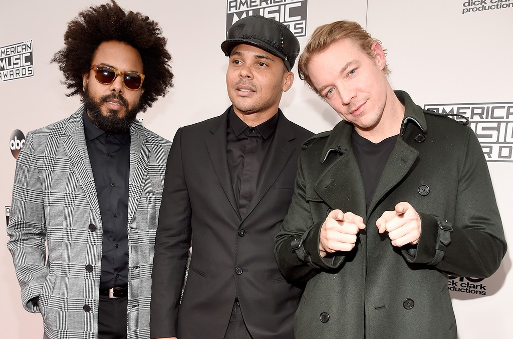 Major Lazer attend the 2016 American Music Awards at Microsoft Theater on Nov. 20, 2016 in Los Angeles.