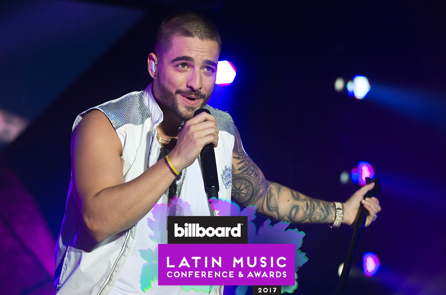 Maluma performs at Sant Jordi Club on Oct. 7, 2016 in Barcelona, Spain.