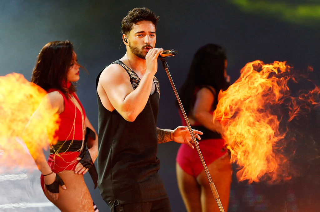 Maluma performs at the 58th Viña del Mar International Song Festival in Chile on Feb. 25, 2017.