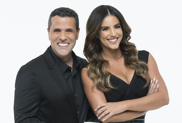 Marco Antonio Regil and Gaby Espino