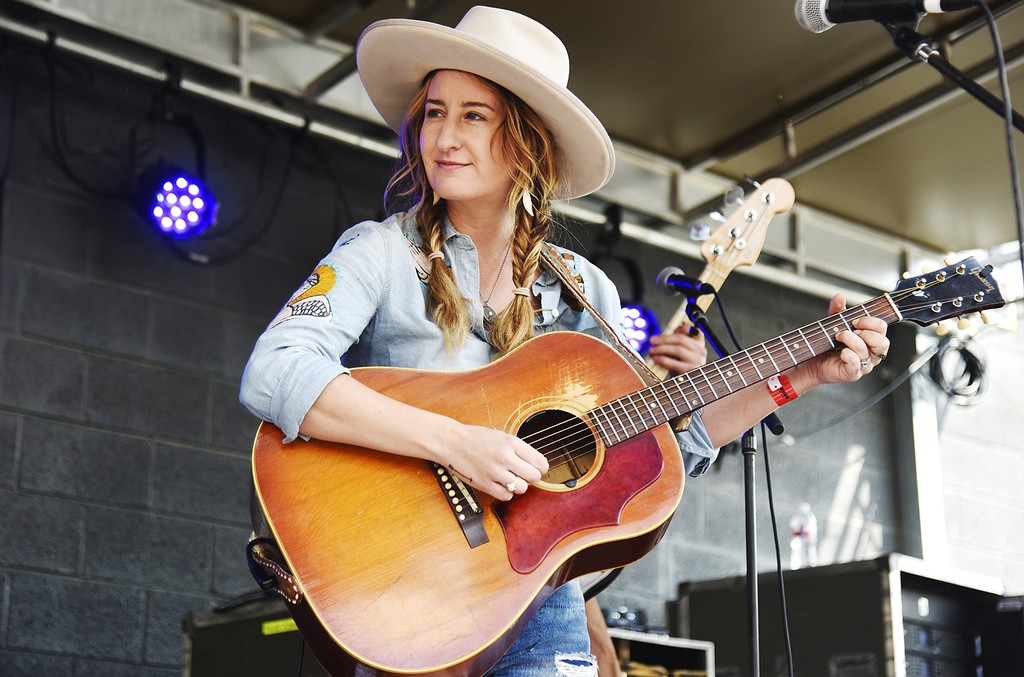 Margo Price performs during the Rachael Ray Feedback party at Stubb's Bar-B-Que during the 2017 SXSW Conference And Festivals on March 18, 2017 in Austin, Texas.