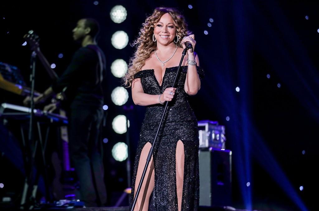Mariah Carey performs at the Emirates Airline Dubai Jazz Festival on Feb. 23, 2017 in United Arab Emirates.