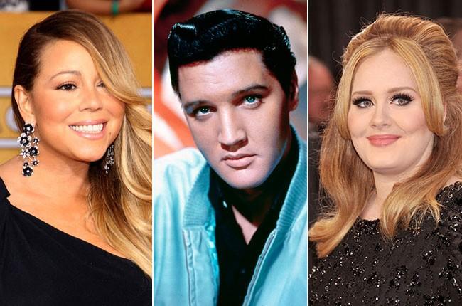 Mariah Carey, Elvis Presley, Adele