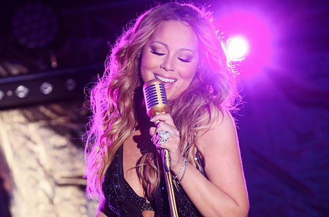Mariah Carey performs in France