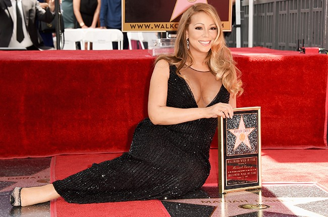 Mariah Carey is honored with Star on The Hollywood Walk of Fame 2015