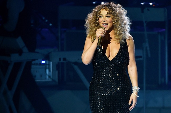 Mariah Carey performs during the launch of her Las Vegas residency MARIAH #1 TO INFINITY