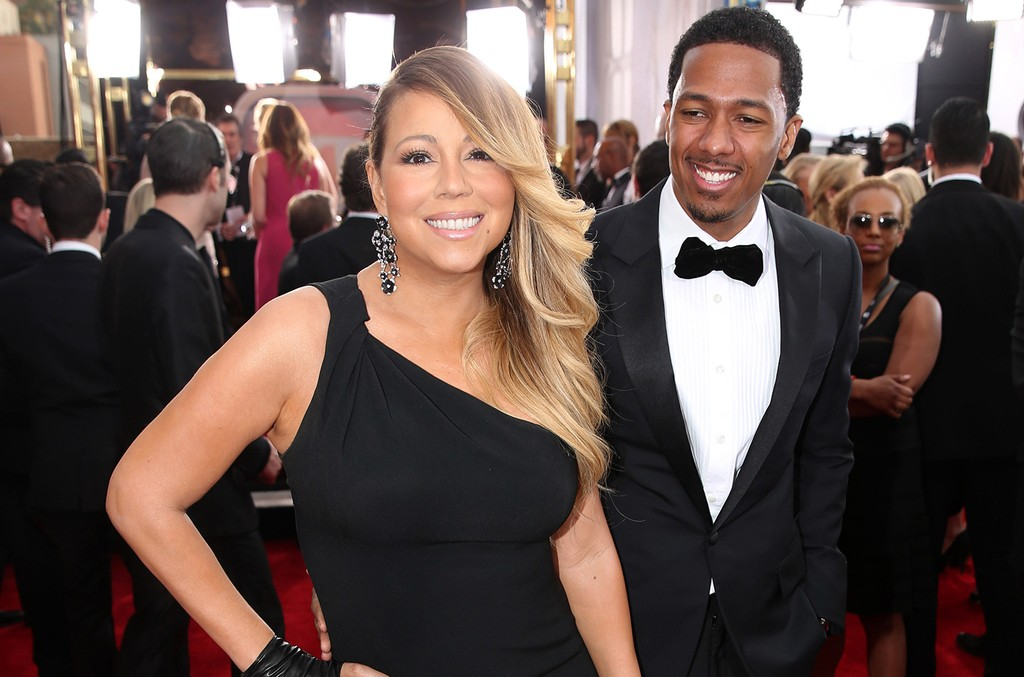 Mariah Carey and Nick Cannon at the 20th annual Screen Actors Guild Awards in Los Angeles on Jan. 8, 2014.