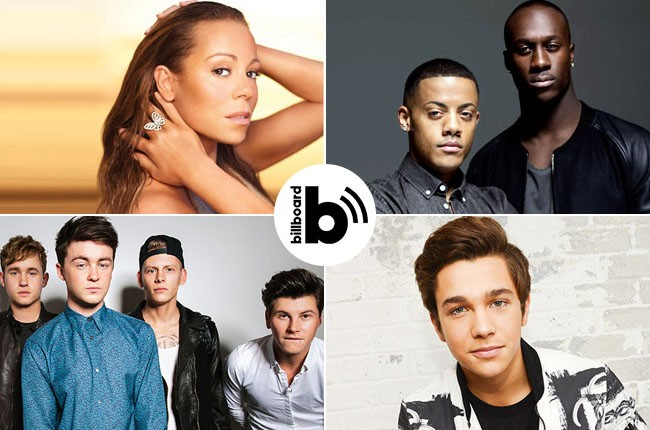 Mariah Carey, Nico & Vinz, Austin Mahone, Rixton