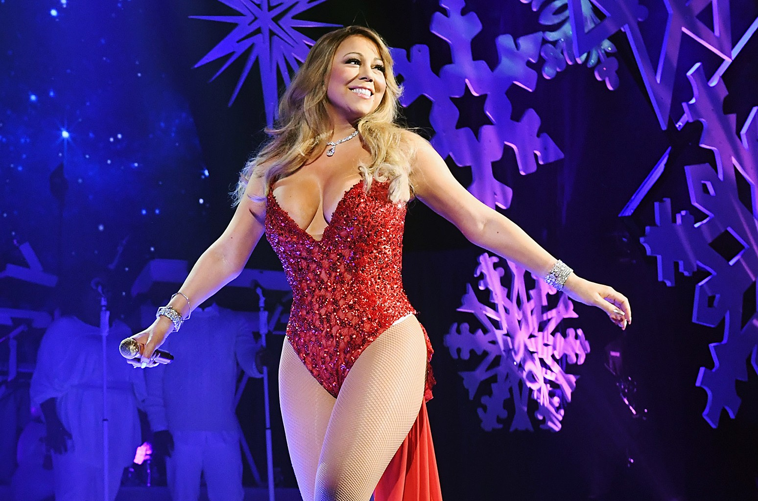 Mariah Carey performs during the opening show of 'Mariah Carey: All I Want For Christmas Is You' at Beacon Theatre on Dec. 5, 2016 in New York City.