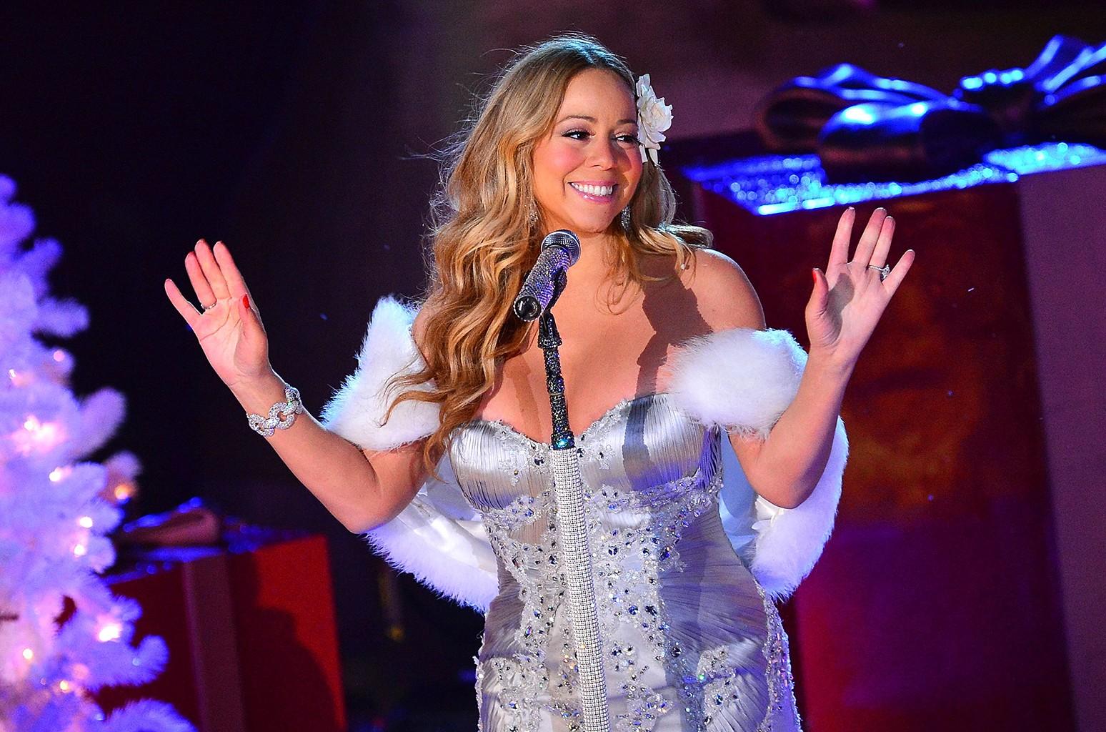Mariah Carey performs in 2012