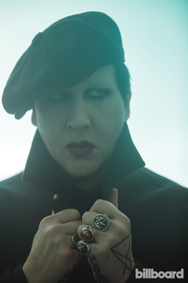 Marilyn Manson photographed on Sept.6, 2017 at The Hollywood Roosevelt in Los Angeles.