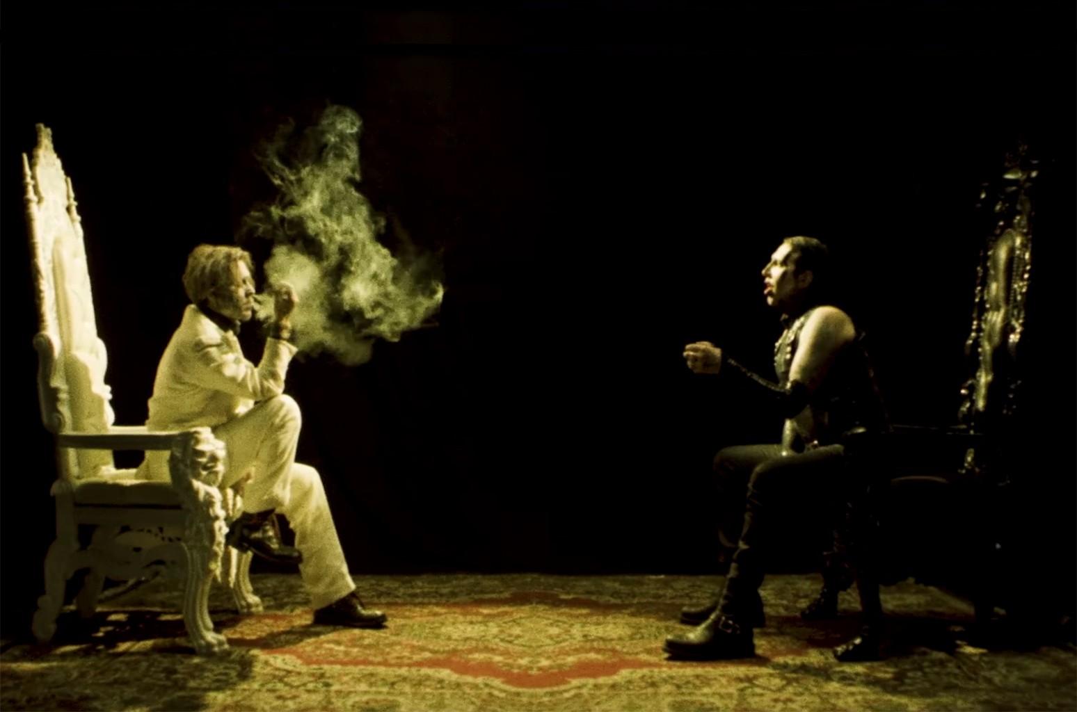 Johnny Depp and Marilyn Manson