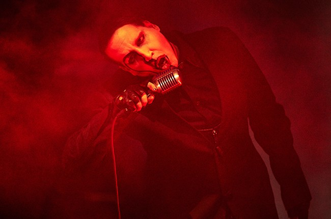 Marilyn Manson performs on February 6, 2015 at Mystic Lake Hotel and Casino in Prior Lake, Minnesota