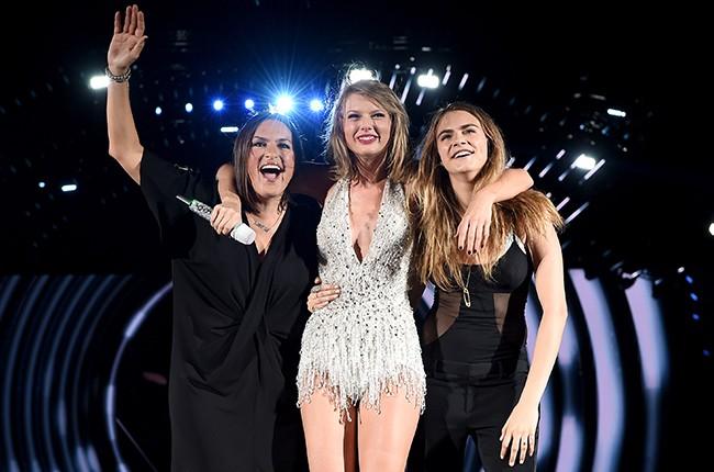 Mariska Hargitay, Taylor Swift, and Cara Delevingne