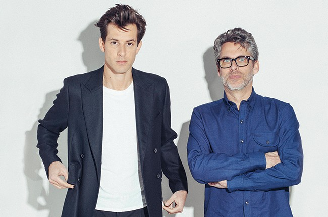 Mark Ronson and Michael Chabon in 2015.