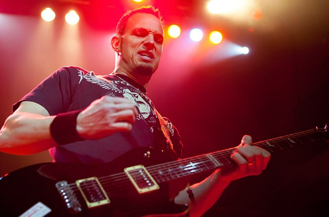Mark Tremonti performs at a solo show on Feb. 12 in Pontiac, Michigan (Getty Images)