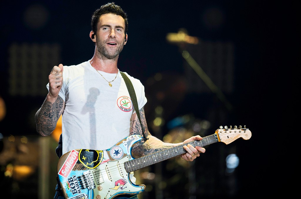 Adam Levine of Maroon 5, 2017