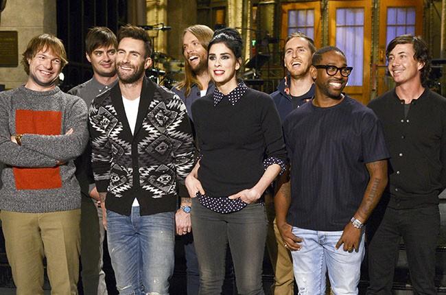 Maroon 5 on SNL, 2014.