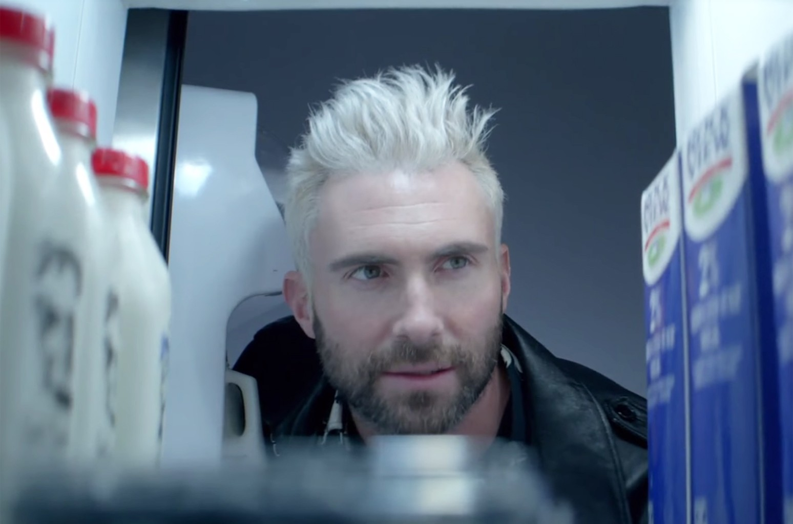 """Maroon 5 in the video for """"Cold."""""""