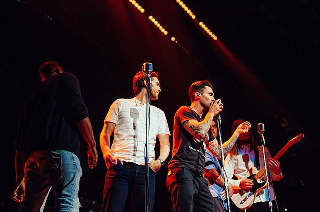 exclusive maroon 5 tour photos