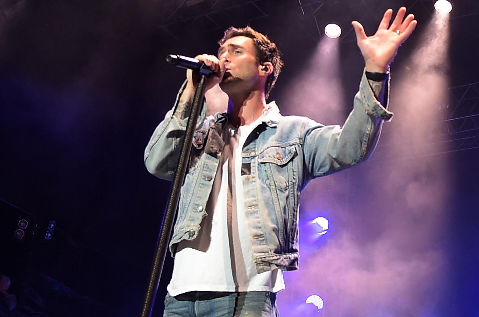 Adam Levine of Maroon 5 performs in 2016