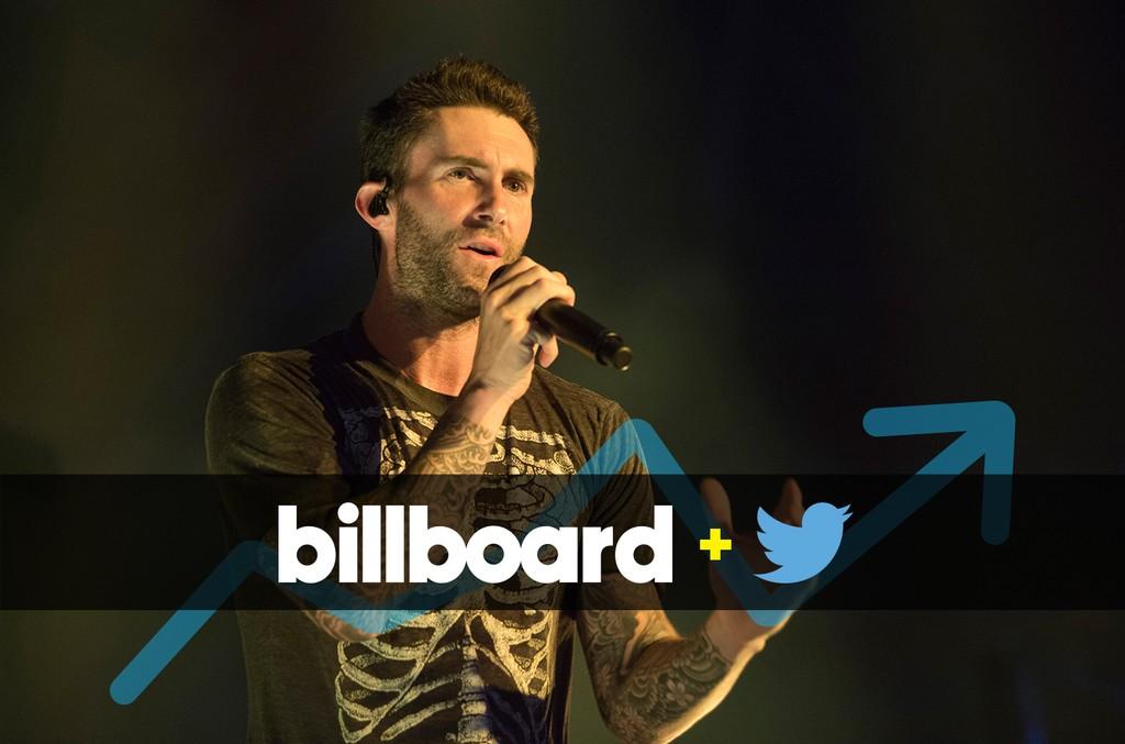 Adam Levine of Maroon 5 performs at Palau Sant Jordi on June 14, 2015 in Barcelona, Spain.