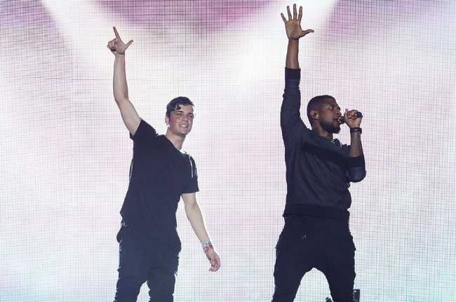 Martin Garrix and Usher perform at Ultra Music Festival