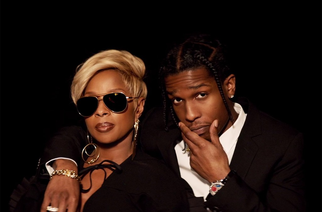 """Mary J. Blige and ASAP Rocky in the video for """"Love Yourself."""""""