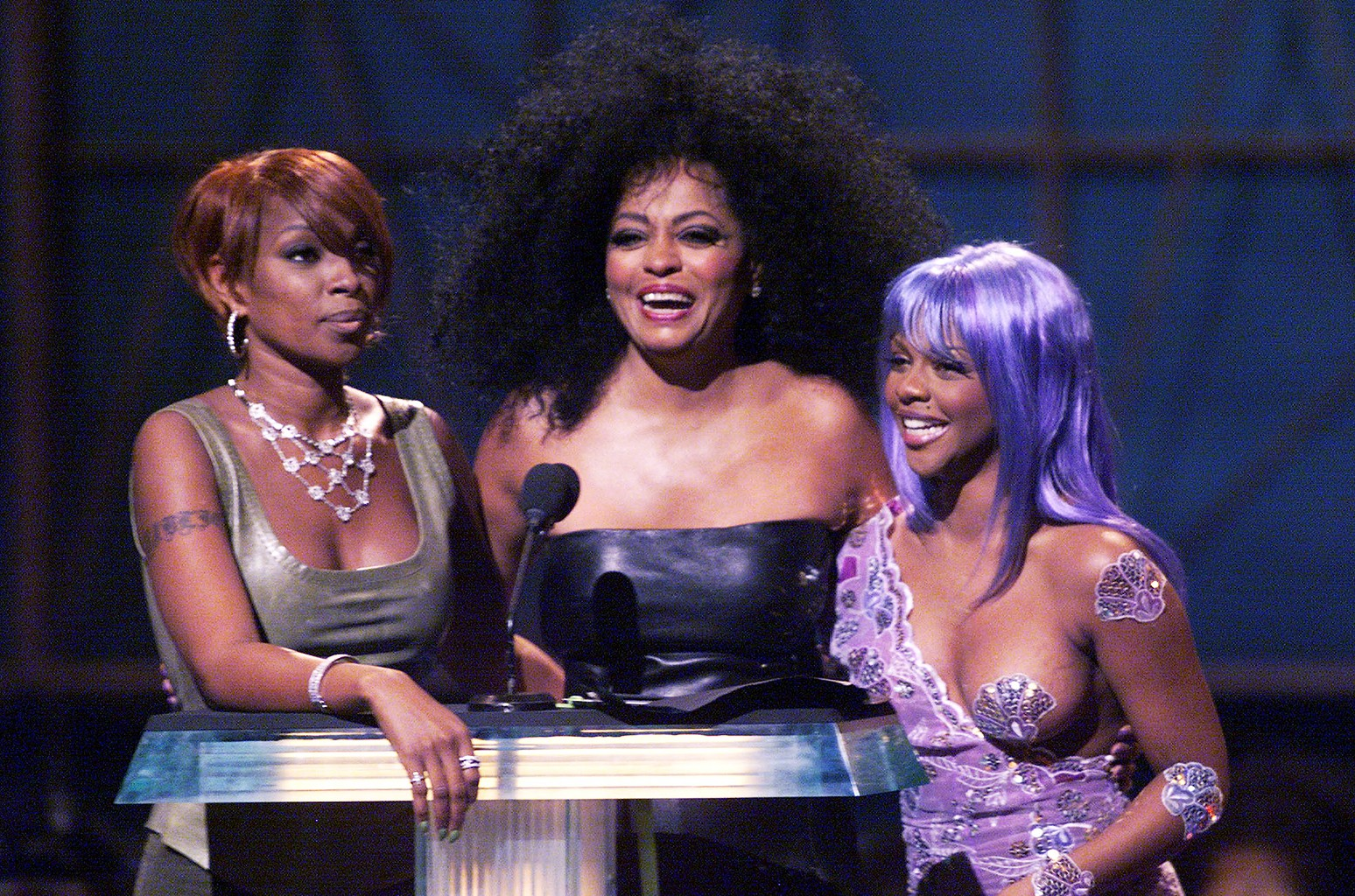 Mary J. Blige, Diana Ross and Lil' Kim