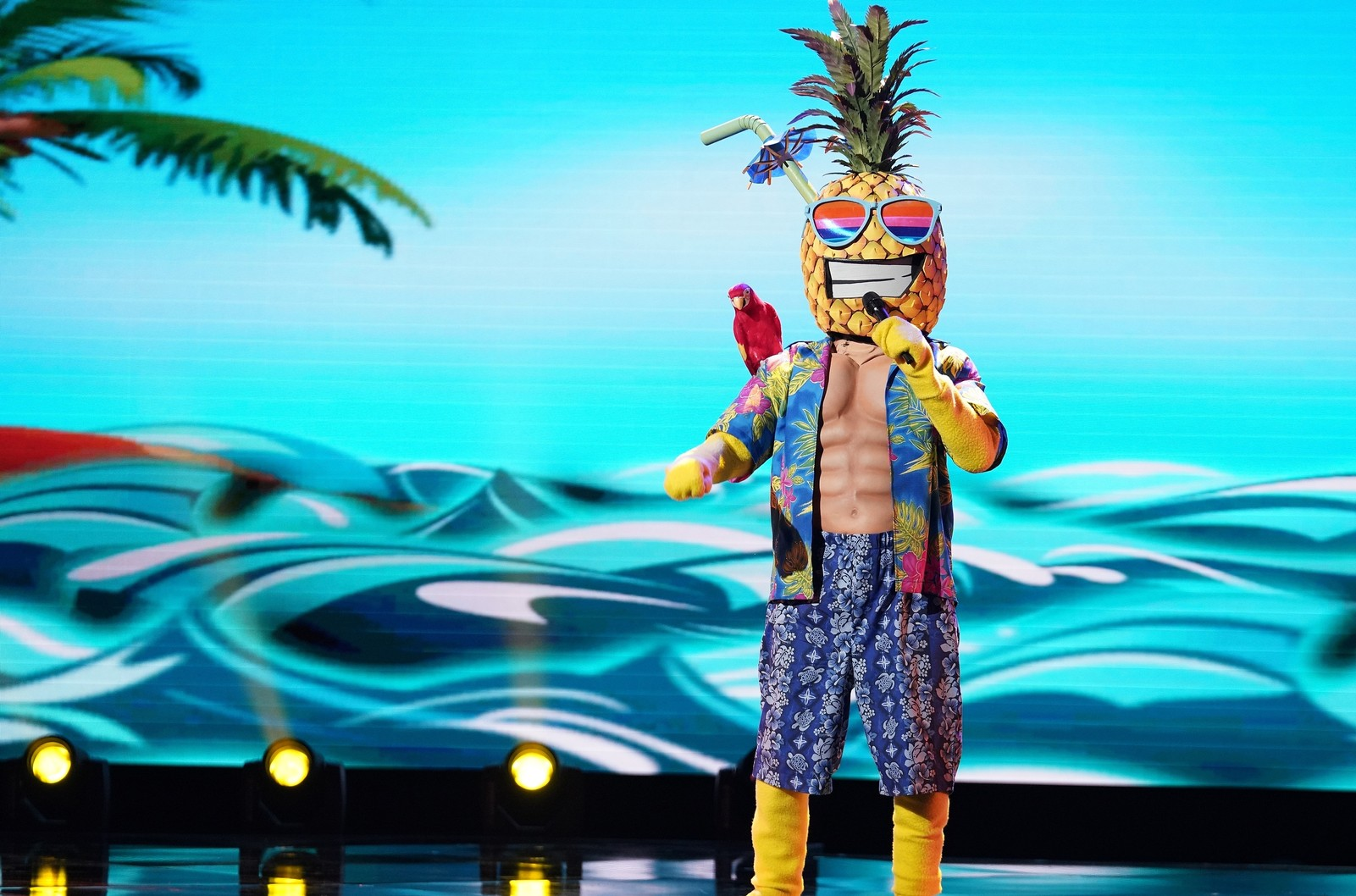 """Pineapple in """"The Masked Singer""""."""