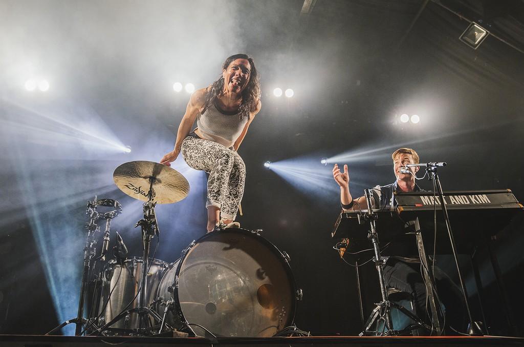 Matt & Kim perform at Heaven on May 28, 2015 in London.