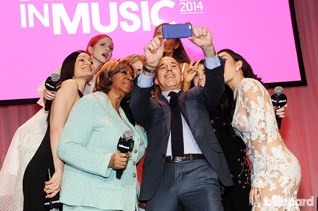 matt-lauer-jessie-j-taylor-swift-aretha-ariana-idina-hayley-charli-women-in-music-2014-billboard-450