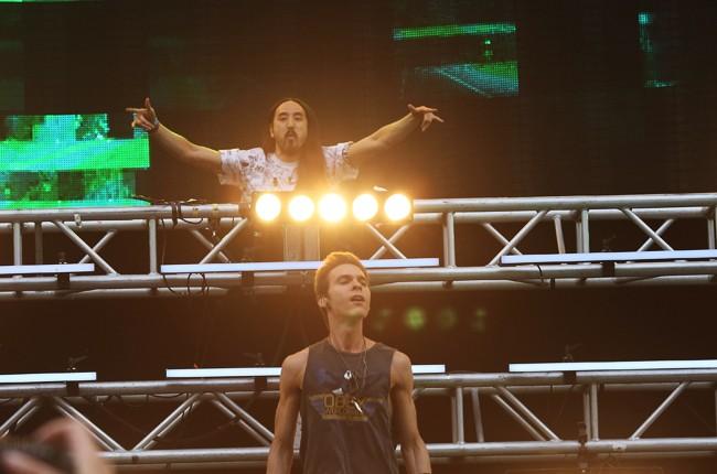 Matthew Koma and Steve Aoki perform at Ultra Music Festival
