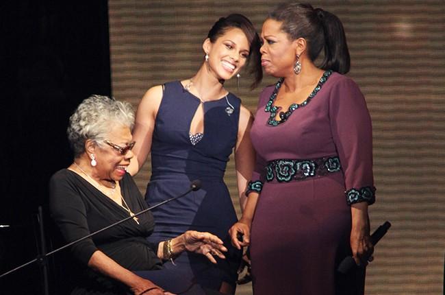 Maya Angelou, Alicia Keys and Oprah