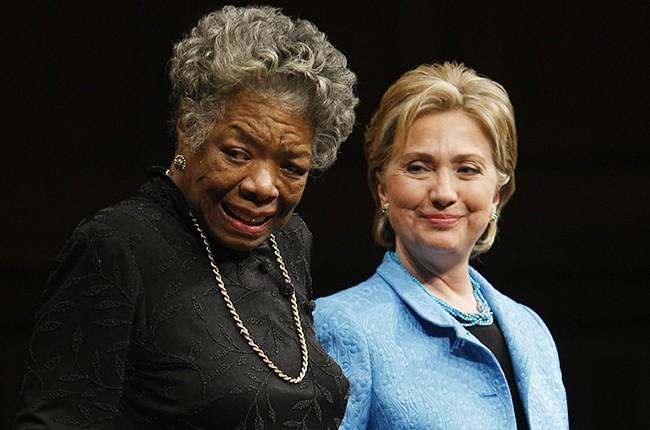 Maya Angelou and Hillary Clinton