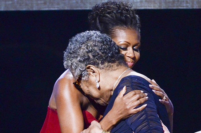 Michelle Obama and Maya Angelou