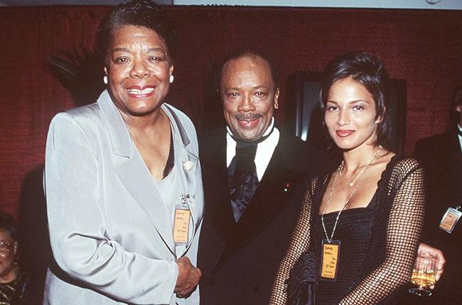 Maya Angelou and Quincy Jones