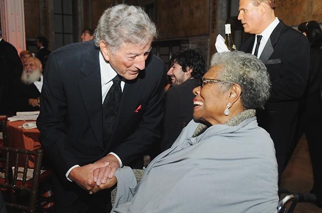 Tony Bennett and Maya Angelou