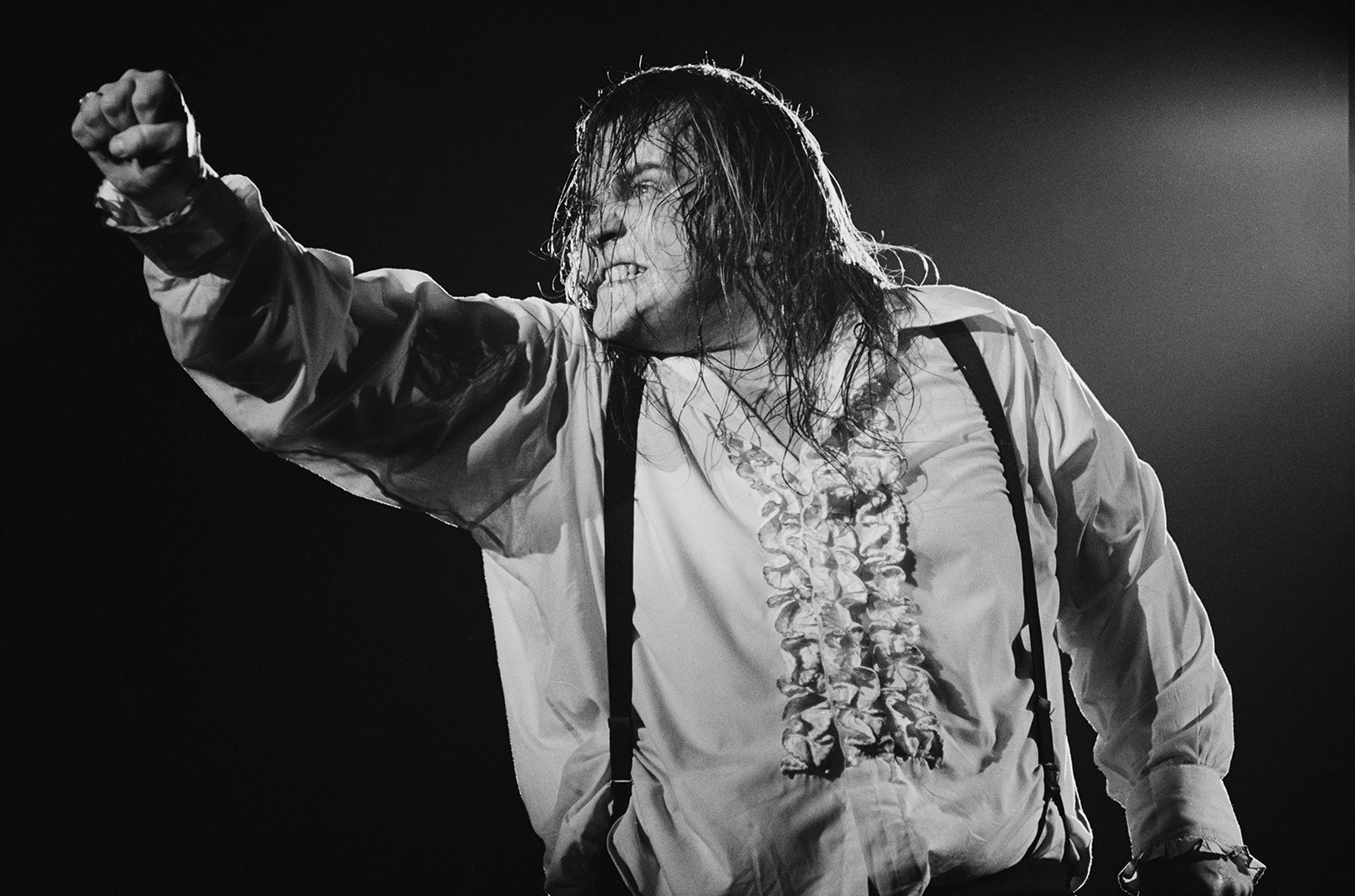 Meat Loaf performs during the Bat Out Of Hell tour