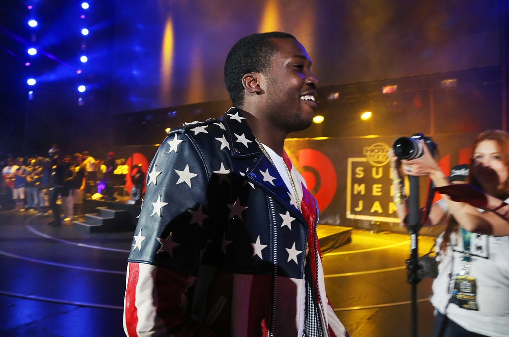 Meek Mill performs in concert during Hot 97 Summer Jam 2014 at MetLife Stadium on June 1, 2014 in East Rutherford City.