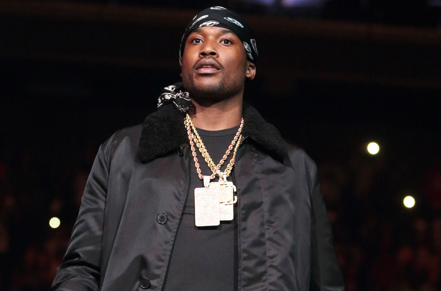 Meek Mill performs in concert during the Power 99 Powerhouse 2016 at the Wells Fargo Center on Oct. 28, 2016 in Philadelphia.