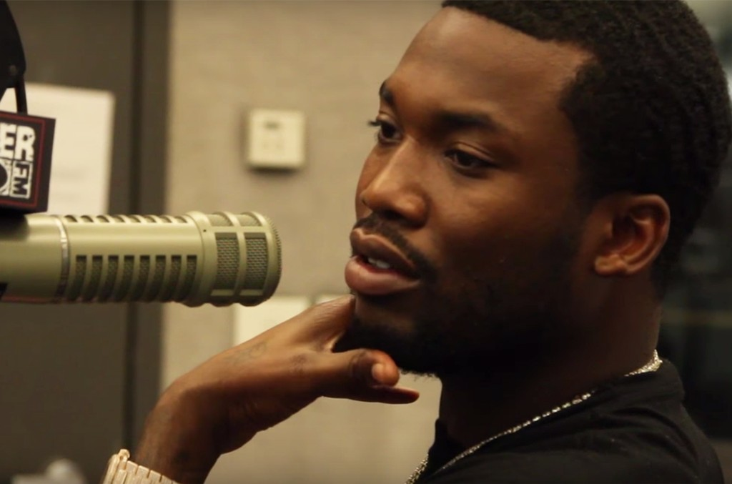 Meek Mill during an interview with Power 99 FM