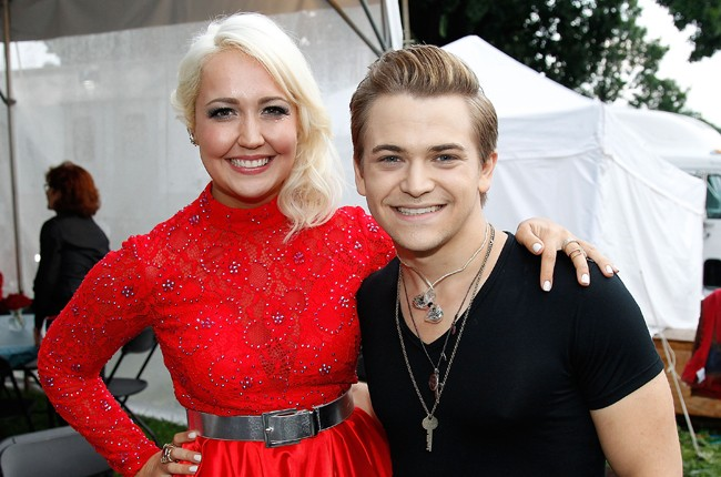 Meghan Linsey and Hunter Hayes pose for a photo backstage at A Capitol Fourth 2015 Independence Day concert